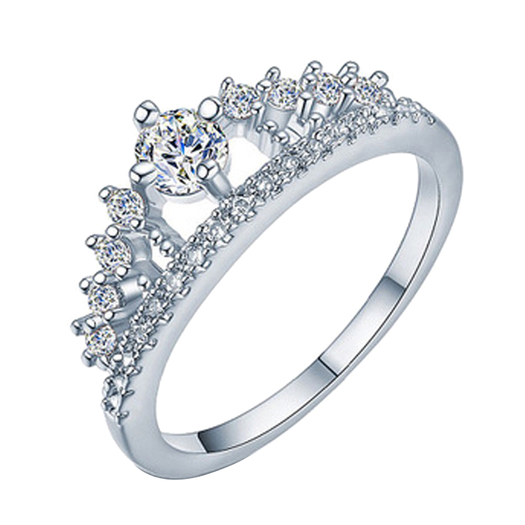 1Carat DEF Color Moissanites Ring Price 18K White Gold Ring Designs For Women