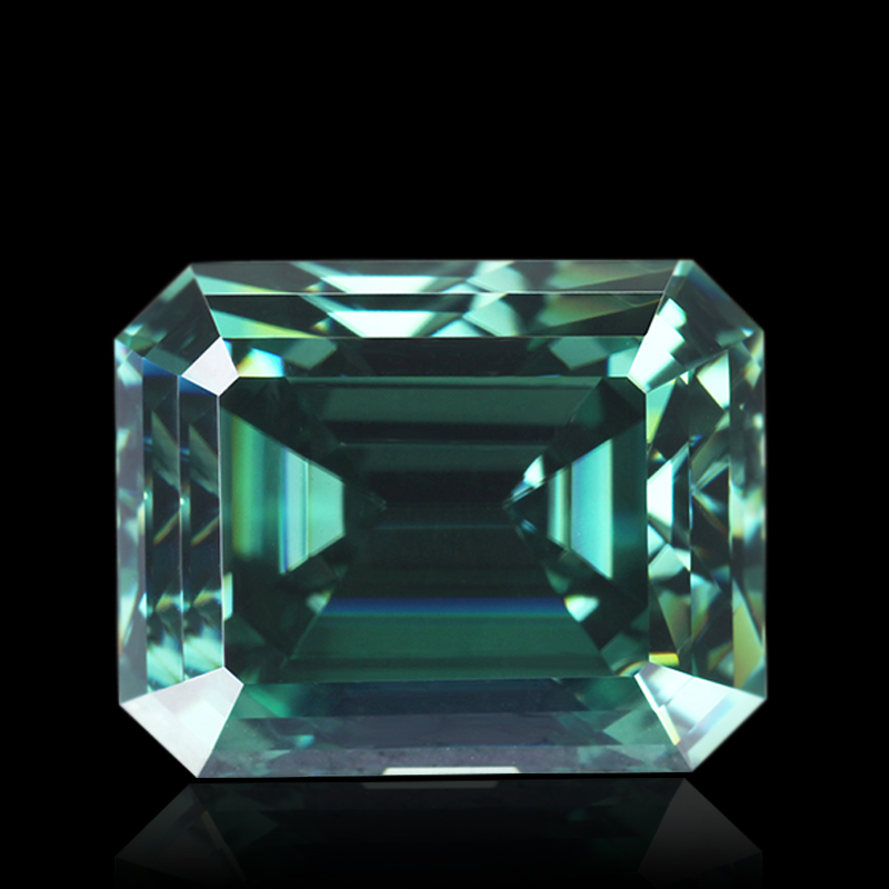 Wholesaler Emerald Green Moissanite Stone